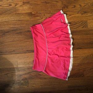 Pink/white nike tennis skirt